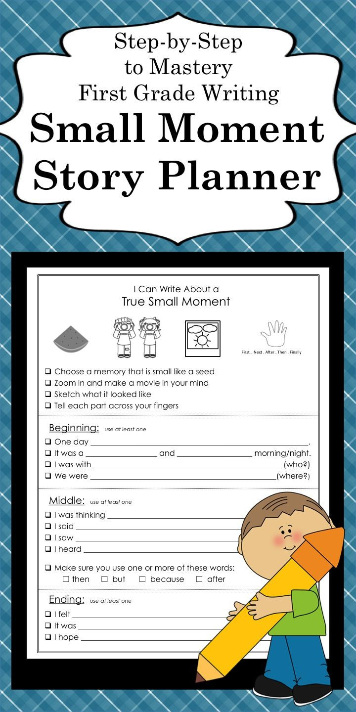 1st Grade Sentence Starters Personal Narrative Small Moment Template with Sentence