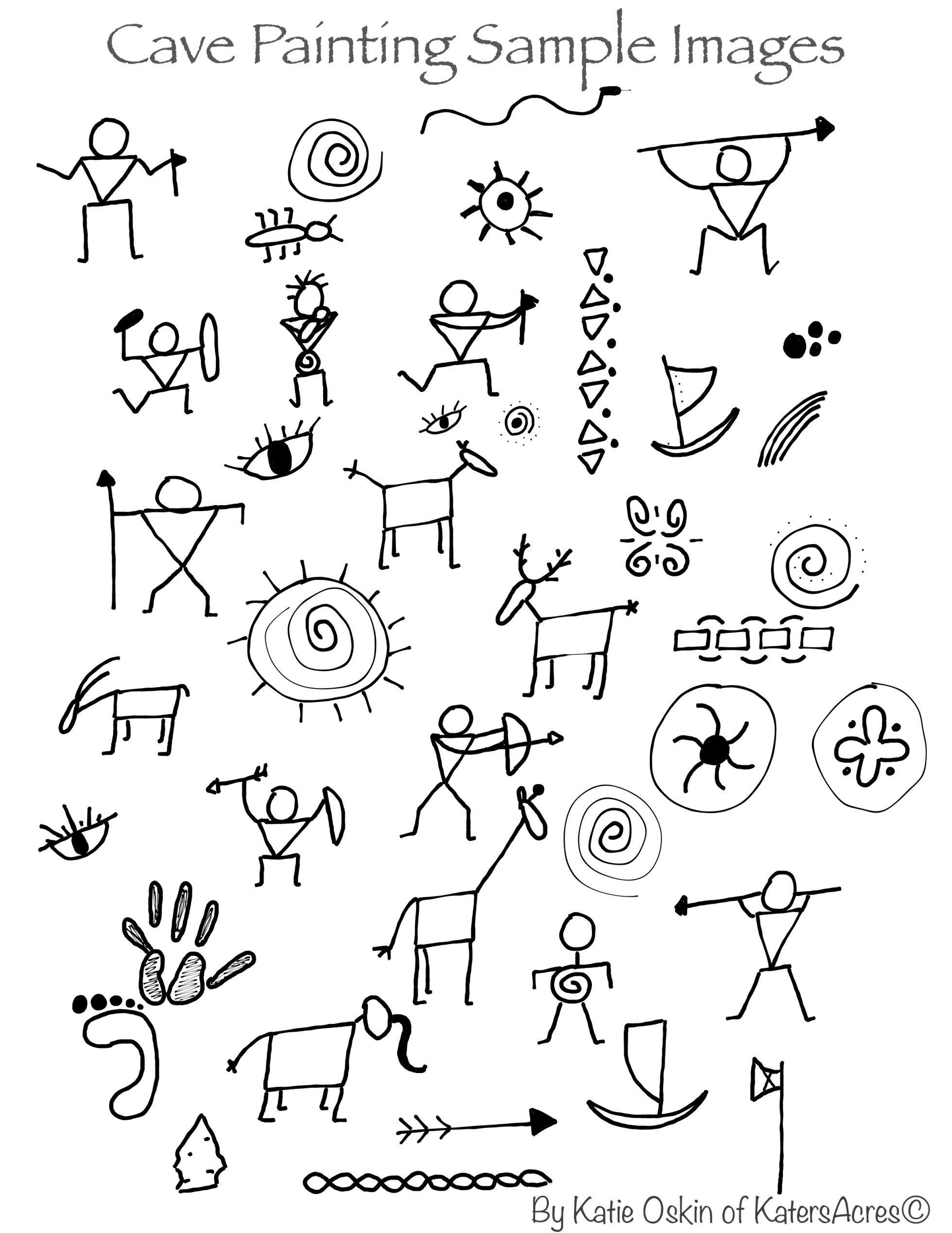2nd Grade Pictograph Worksheets Cave Paintings Background Tutorial Age Art Pictograph