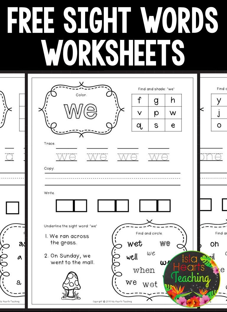 2nd Grade Sight Word Worksheets Free Sight Words Worksheets Kindergarten Word Junior Games