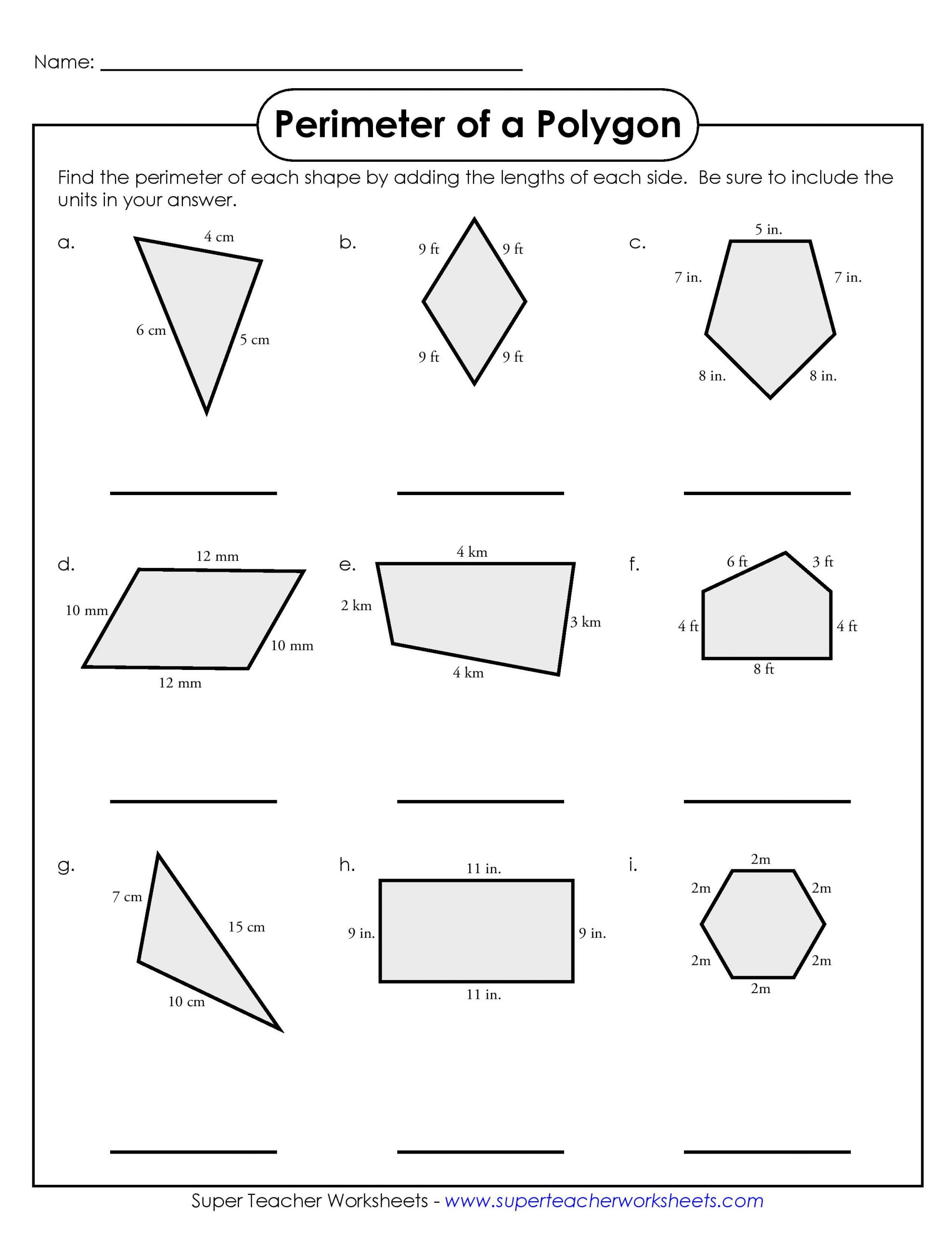 3rd Grade Perimeter Worksheets Simple Perimeter Worksheets