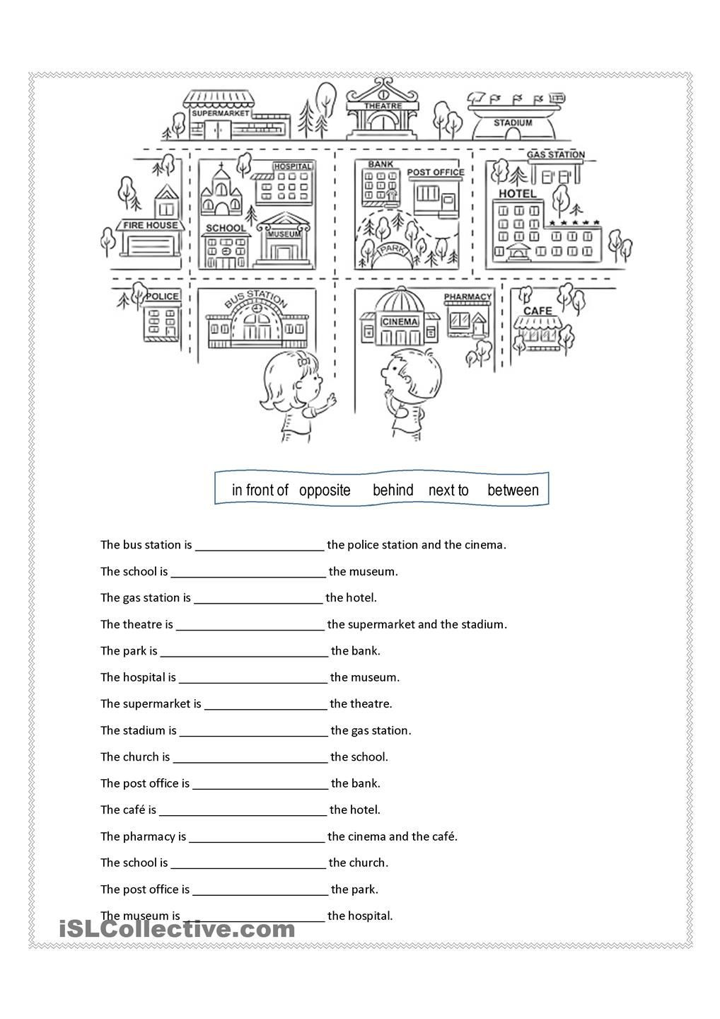 3rd Grade Preposition Worksheets Prepositions Of Place
