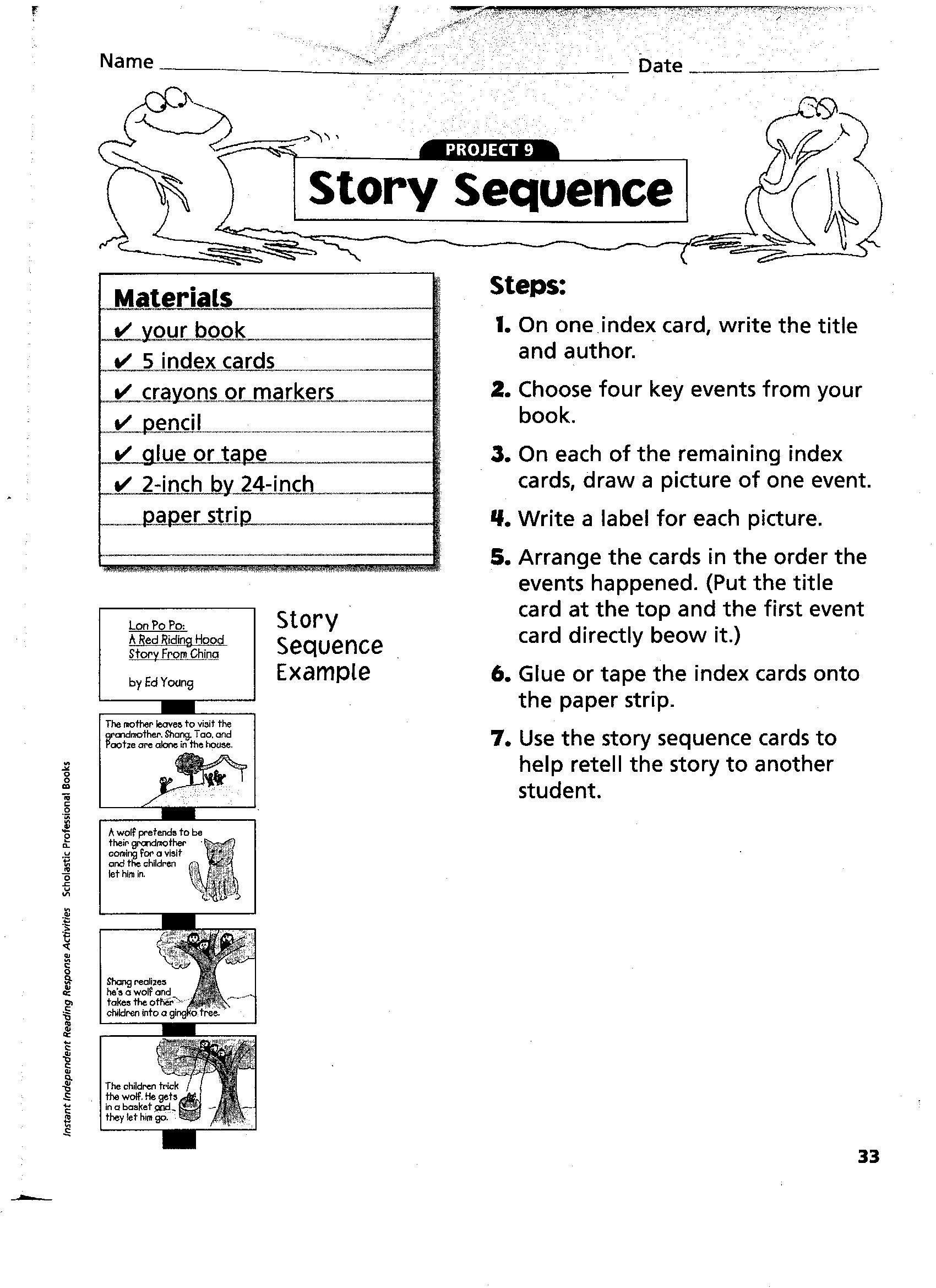 3rd Grade Sequencing Worksheets Pin On Printable Worksheet Template