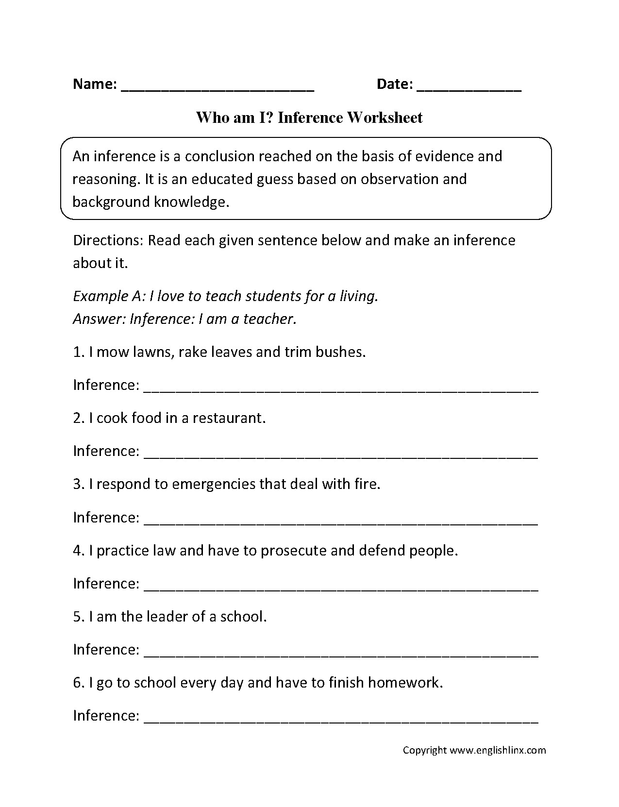 4th Grade Inferencing Worksheets New Inferences Worksheet High School