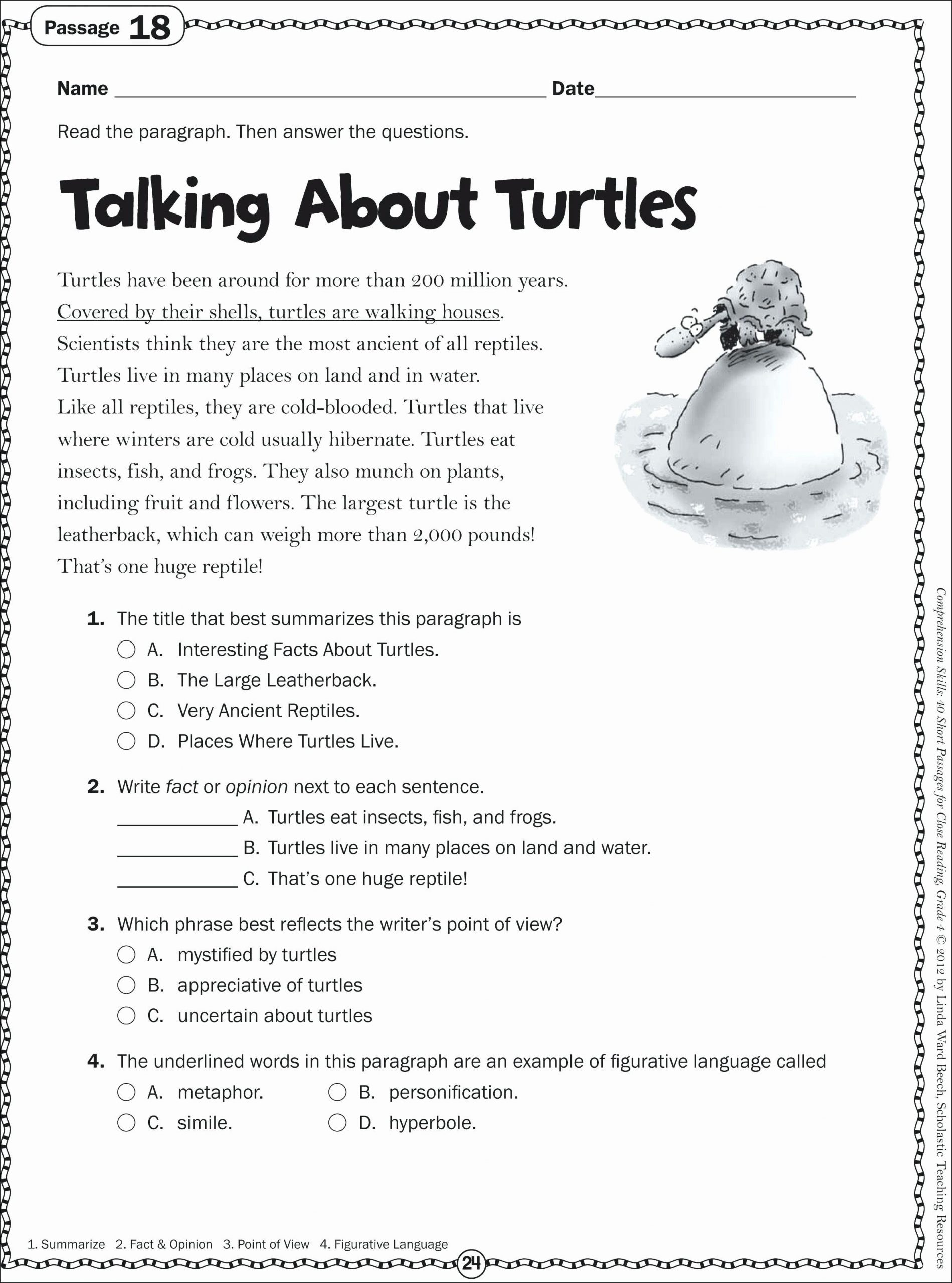 4th Grade Writing Worksheets Pdf Coloring Activities for 3rd Grade
