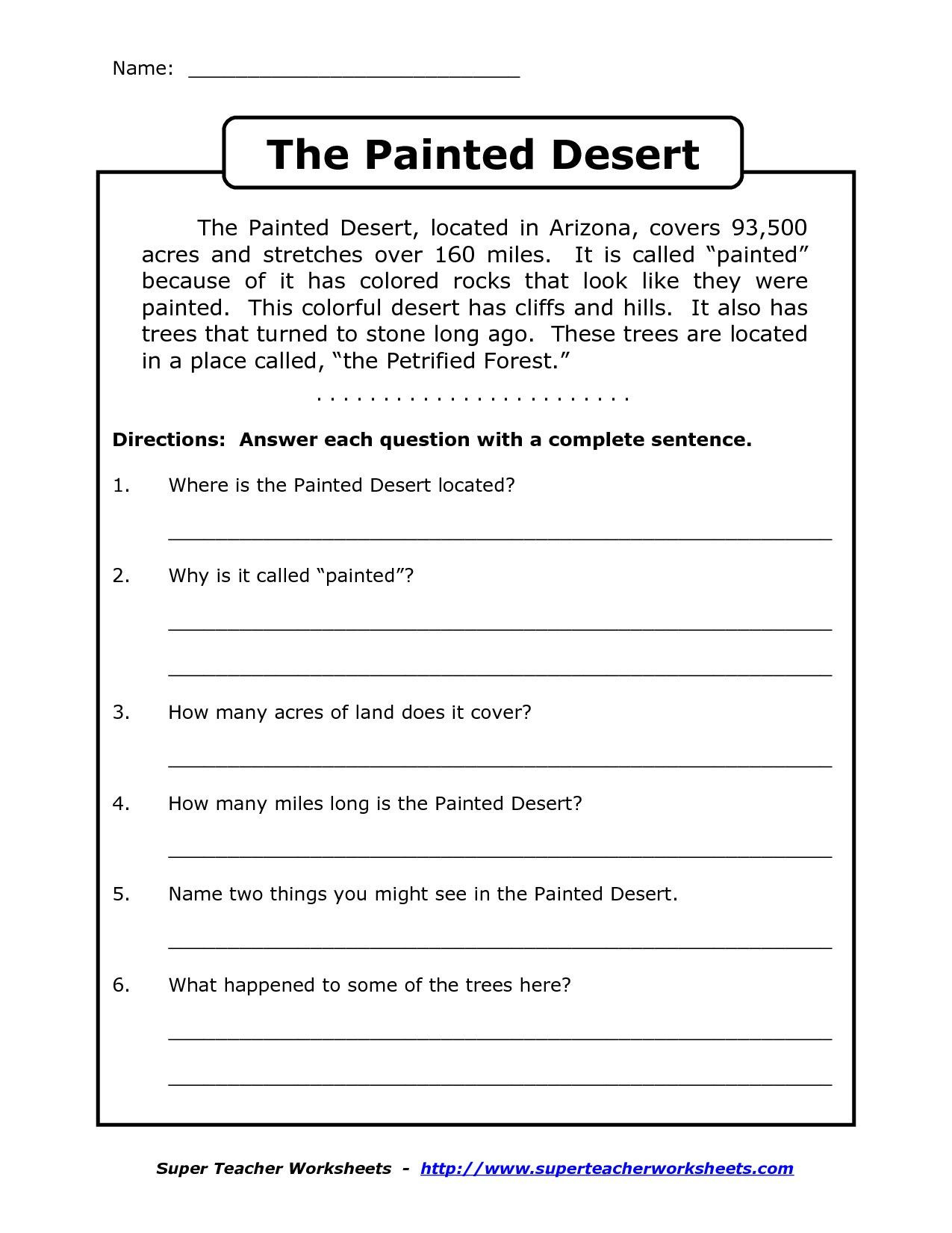 4th Grade Writing Worksheets Pdf Prehension Worksheet for 1st Grade Y2 P3 the Painted