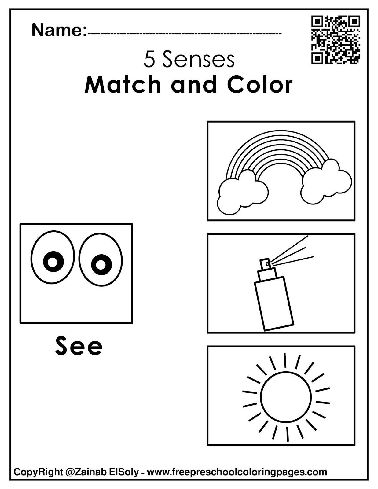 5 Senses Printable Worksheets Set Of 5 Senses Activities for Kids