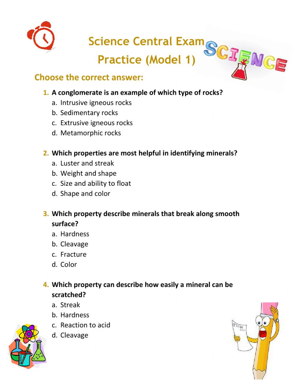 5th Grade Science Practice Worksheets Science Grade 5 Term 3 Practice Exam Interactive