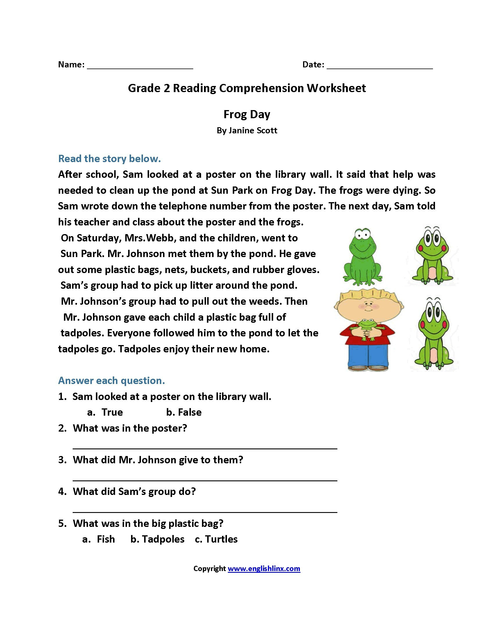 5th Grade Worksheets Printable Reading 5th Grade Reading Worksheets with Questions