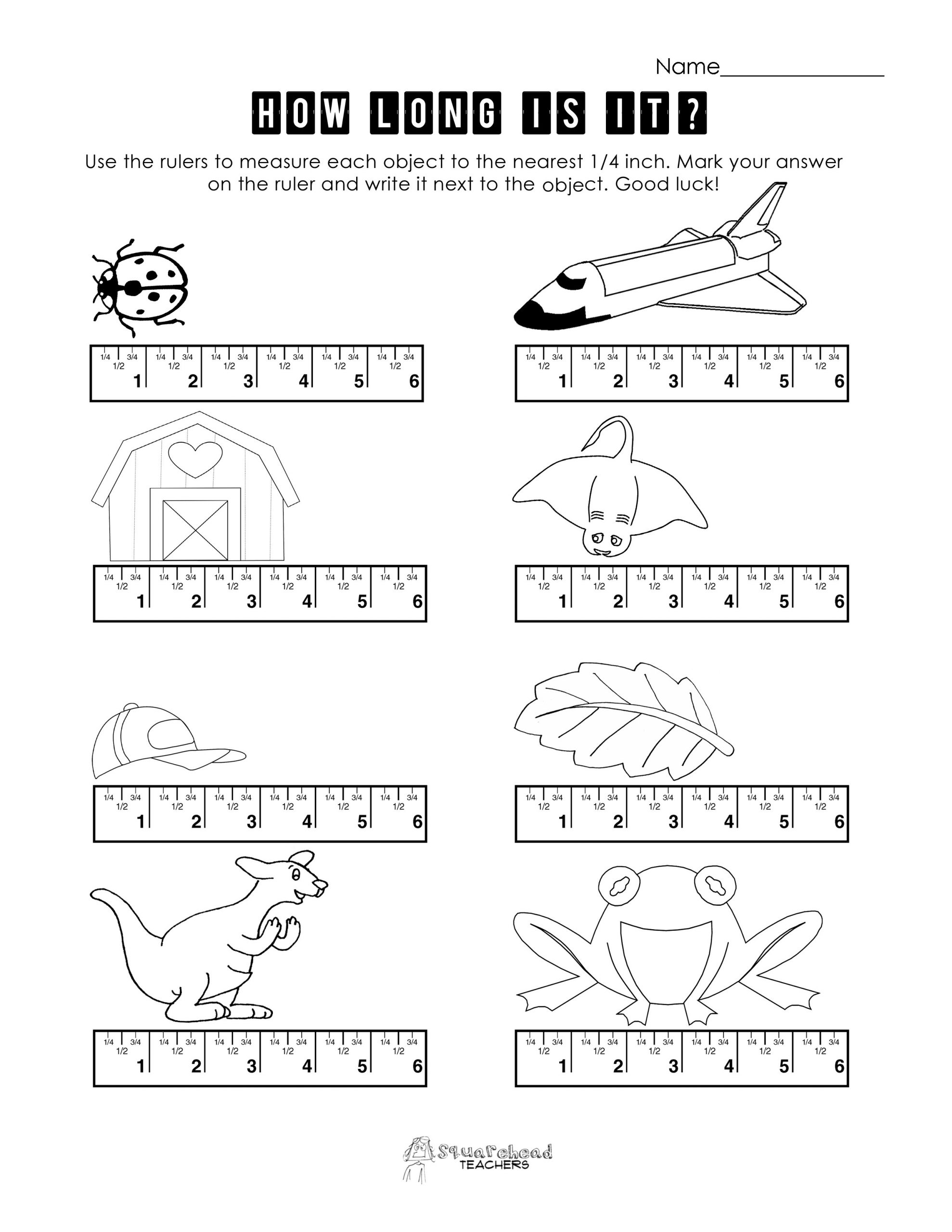 6th Grade Measurement Worksheets Measurement Practice 3