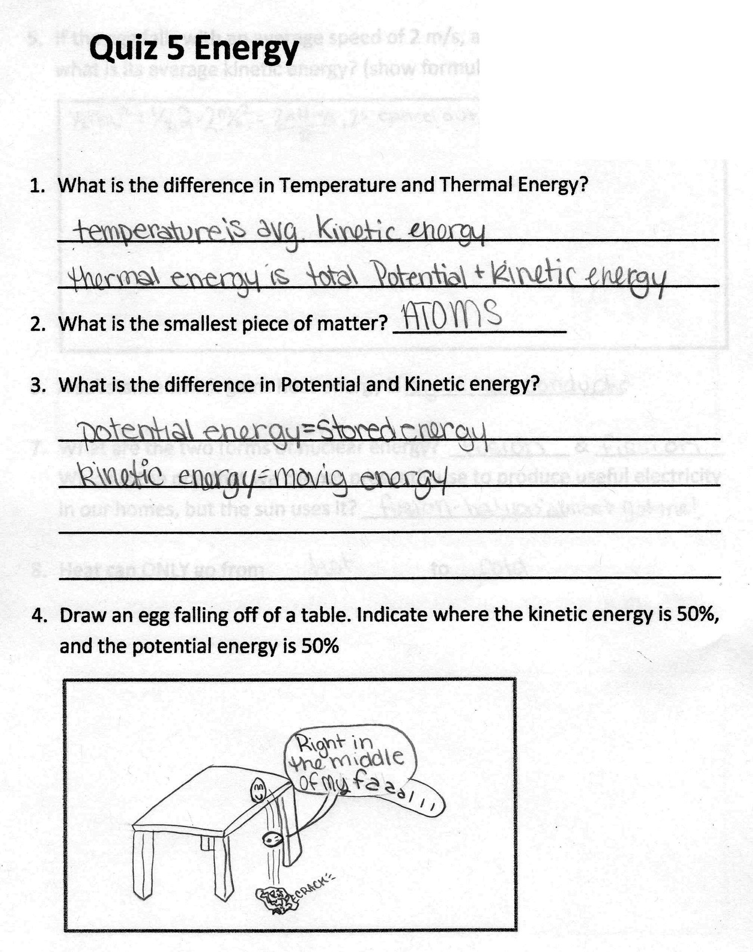 6th Grade Science Energy Worksheets 2016 3rd Quarter assignments 6th Grade Physical Science