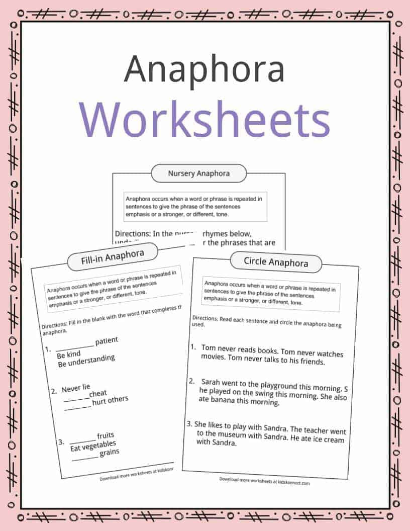 Alliteration Worksheets 4th Grade Anaphora Examples Definition & Worksheets for Kids