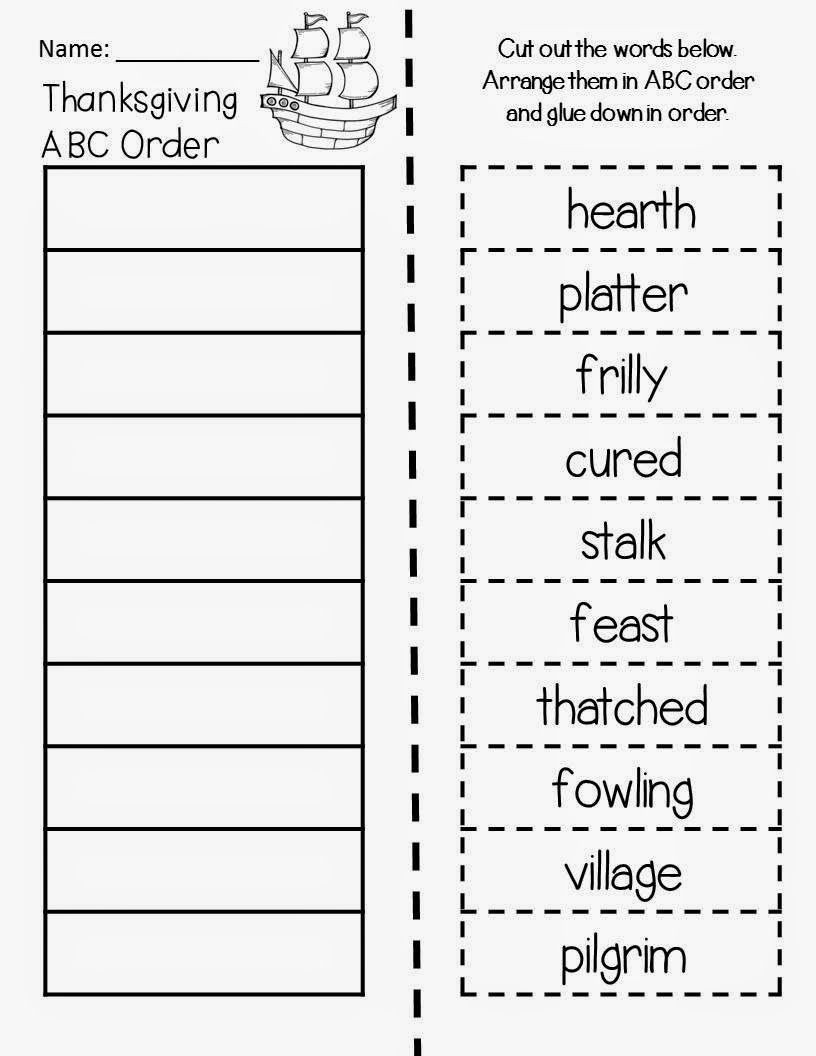 Alphabetical order Worksheets 2nd Grade Thanksgiving On Thursday Collaborative Project & Freebie