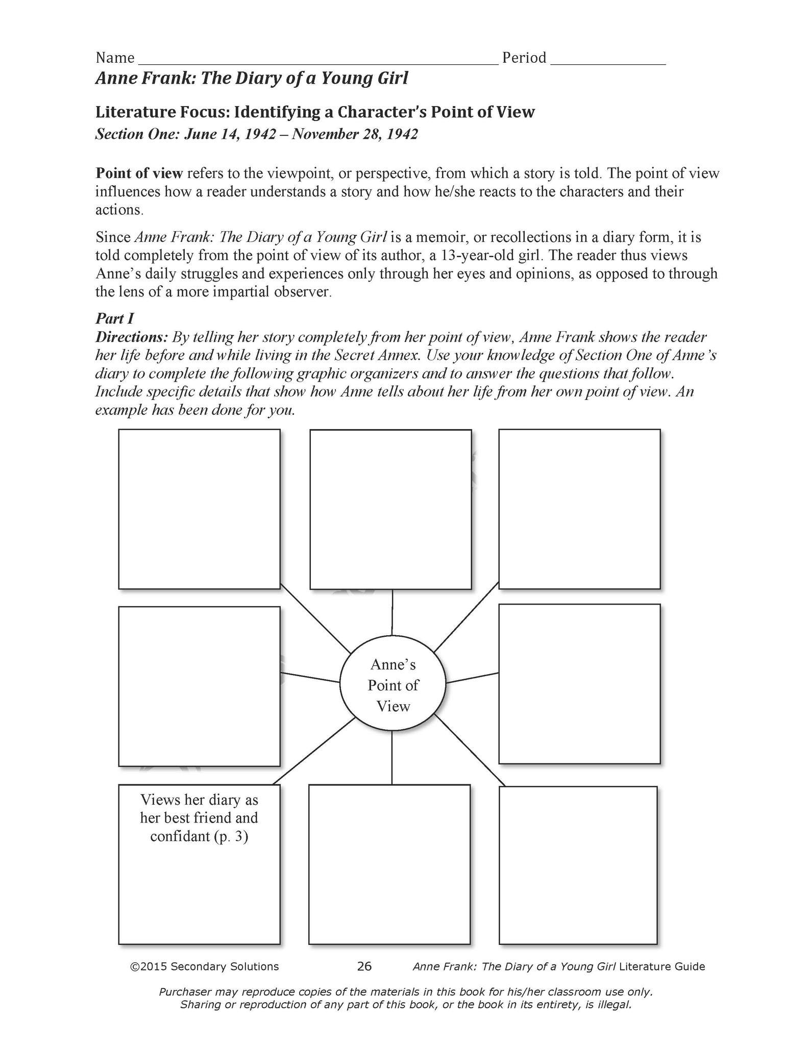 Anne Frank Worksheets Middle School Anne Frank the Diary Of A Young Girl Mon Core Aligned Novel Study Guide Distance Learning