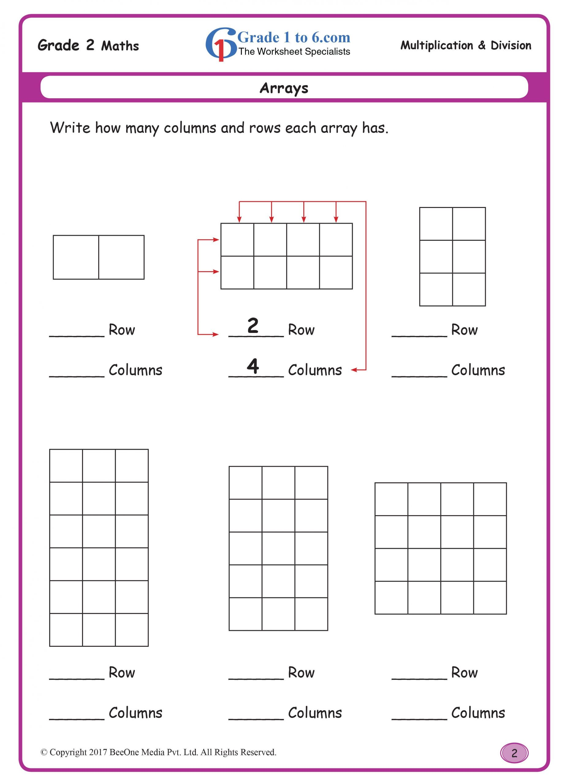 Array Math Worksheets Arrays Buy the Entire E Workbook Of 300 Plus Pages for Just
