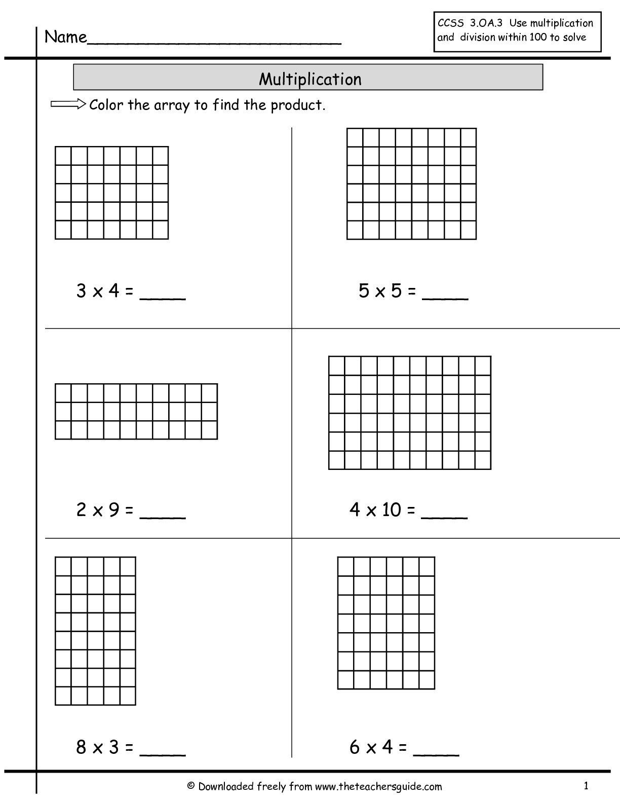 Array Math Worksheets Pin On Cicle Inicial