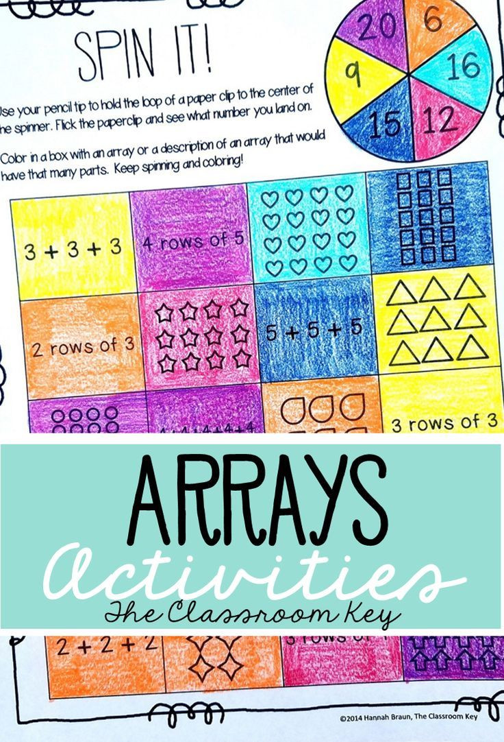Arrays Worksheets Grade 2 Arrays Activities Worksheets and Task Cards for 2nd Grade 2