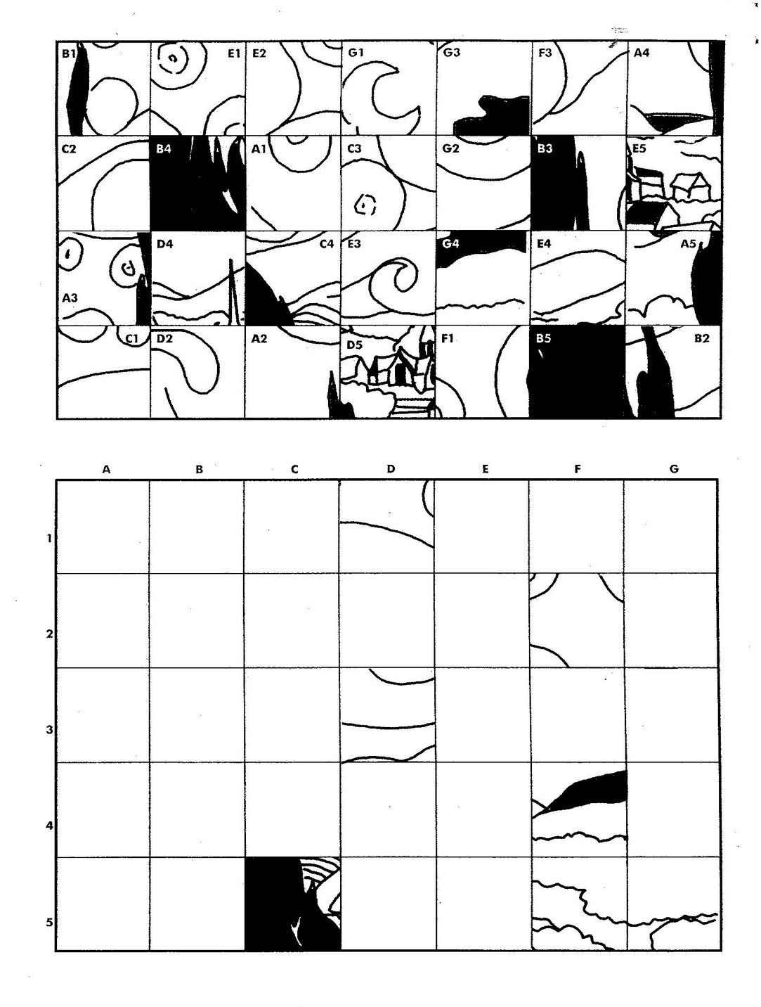 Art Worksheets Middle School Starry Night Fill In