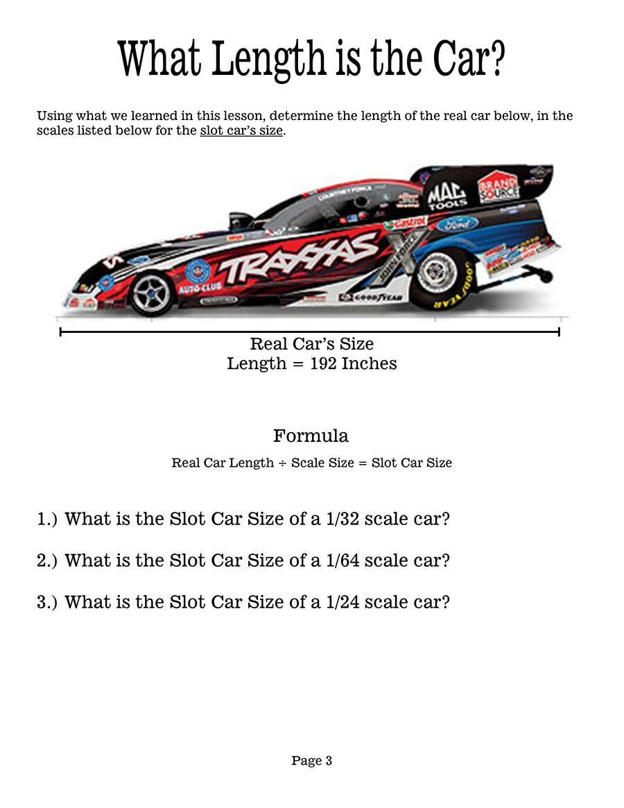 Automotive Math Worksheets Racing to the Future Math Lesson and Worksheet 1 Racing