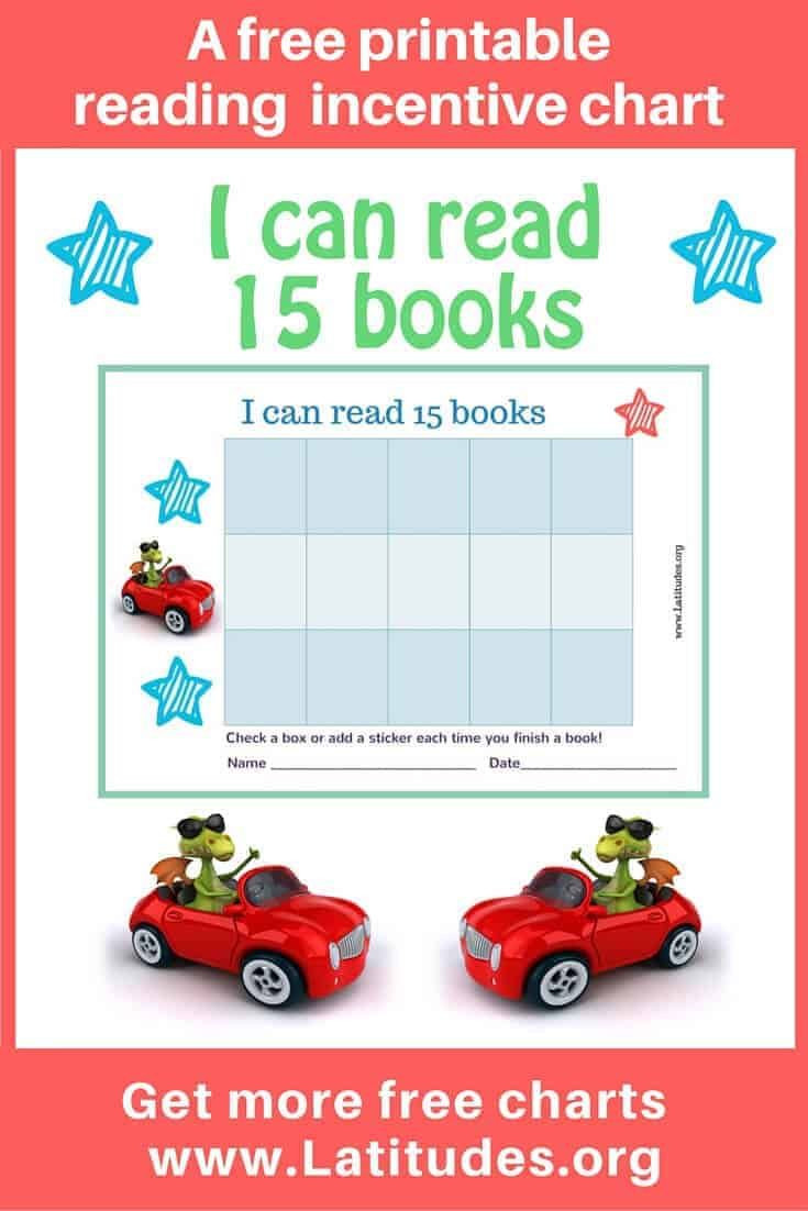 Automotive Worksheets for Highschool Students Free Reading Incentive Chart Read 15 Books Fun Cars