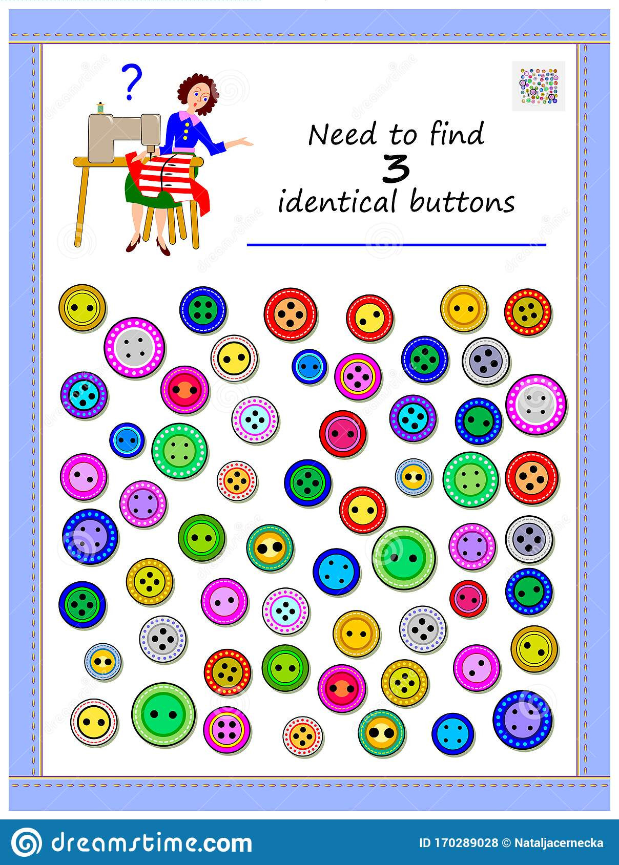 Brain Teaser Printable Worksheets Logic Puzzle Game for Children and Adults Need to Find