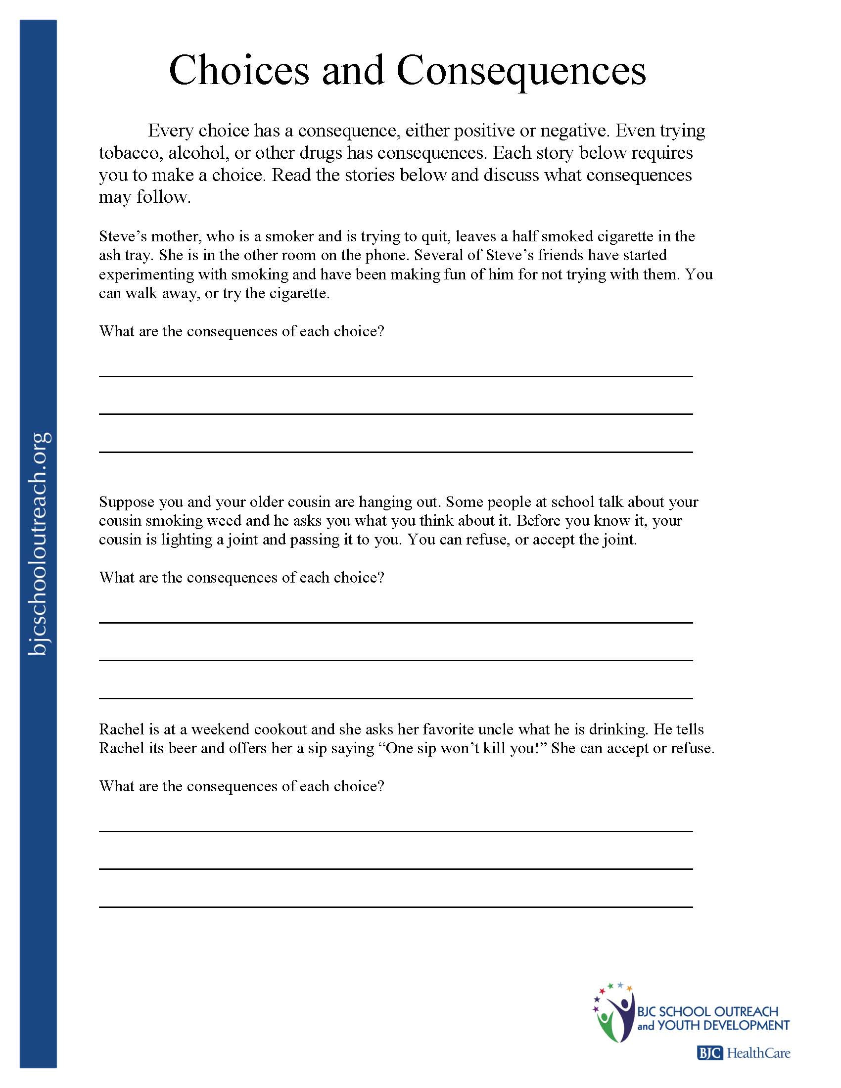 Brain Teaser Printable Worksheets Substance Abuse Activity Worksheets Printable and Group