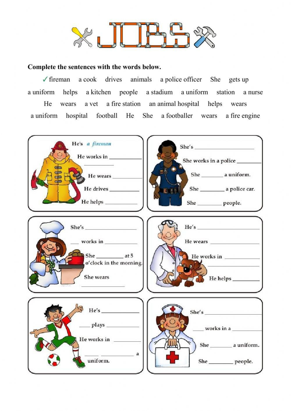 Career Worksheets for Middle School Jobs and Occupations Interactive and Able Worksheet