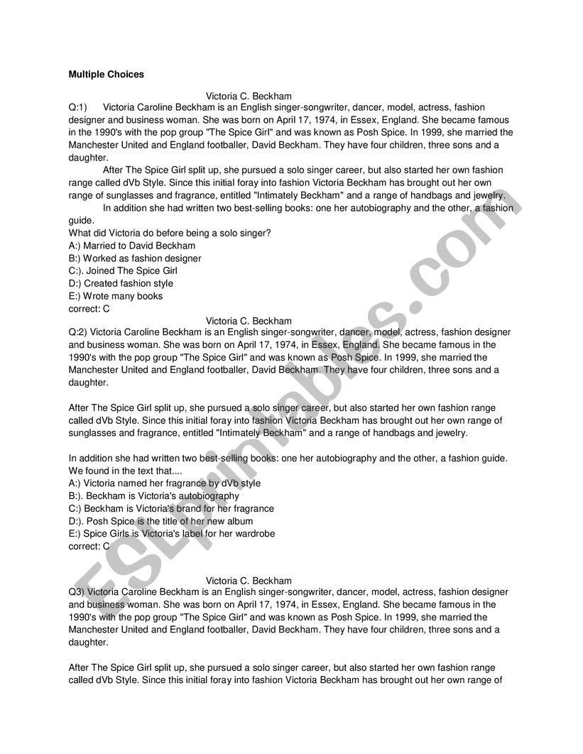 Career Worksheets for Middle School Middle Test Of Senior High School Esl Worksheet by Dhika85