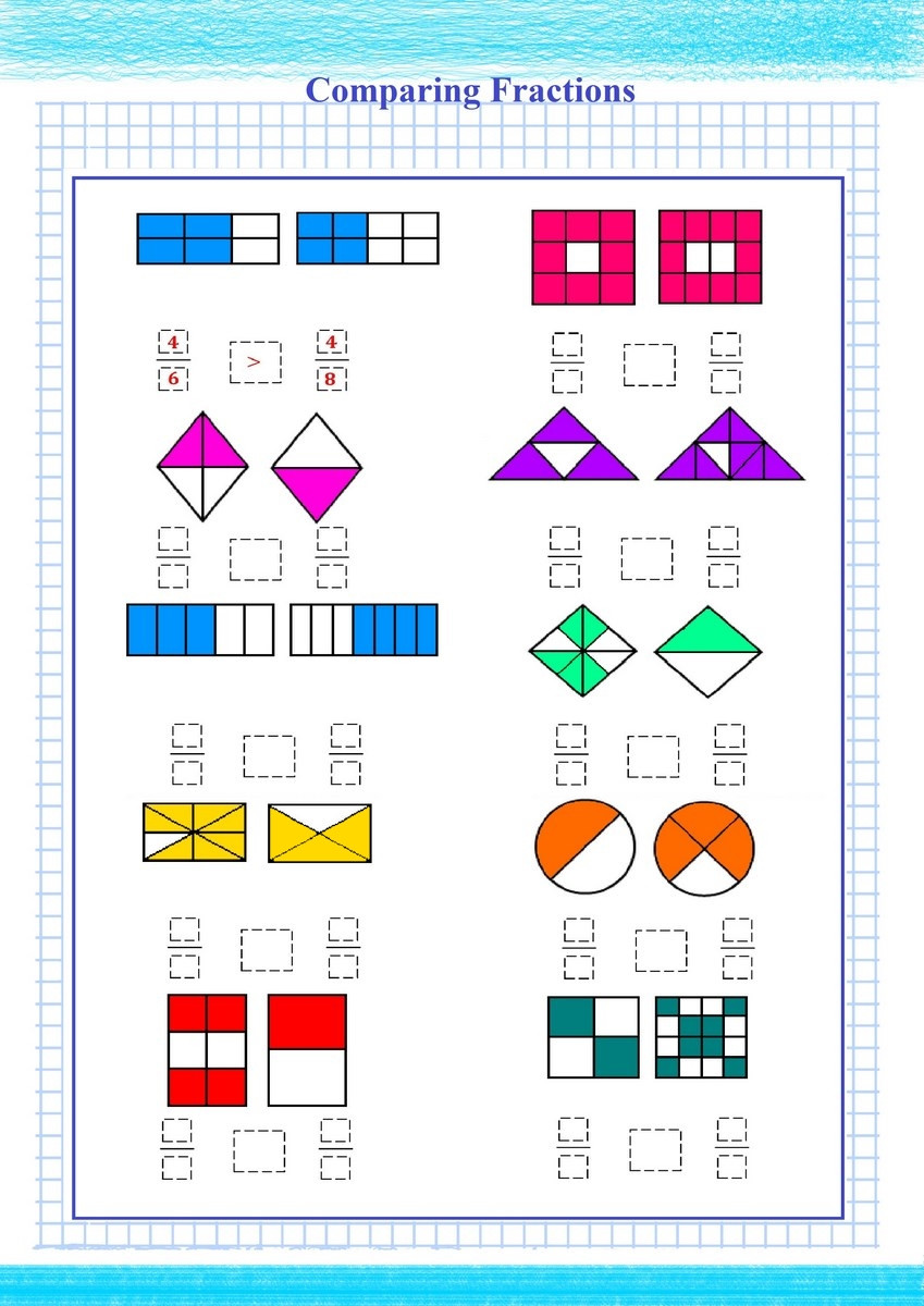Comparing Fractions Worksheet 4th Grade Paring Fractions Worksheet 4th Grade Archives Free Math