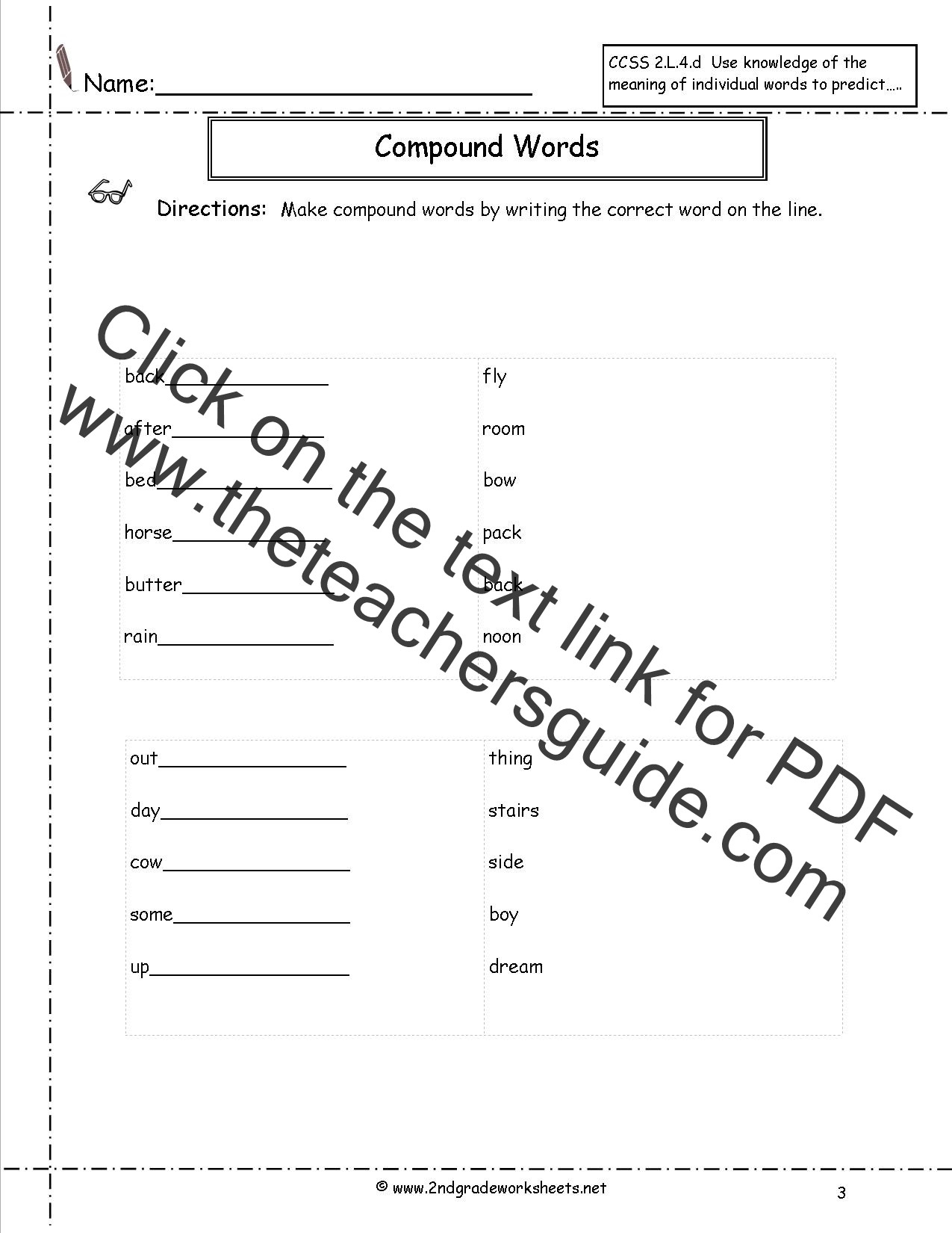 Compound Word Worksheet 2nd Grade Worksheet Words with Multiple Meanings