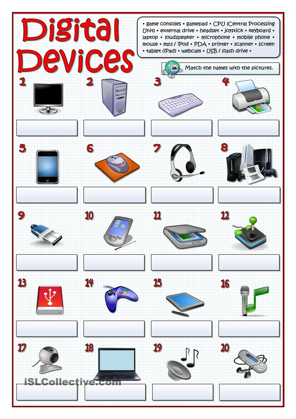 Computer Worksheets for Middle School Digital Devices Puter Lab Rules Lessons Teaching