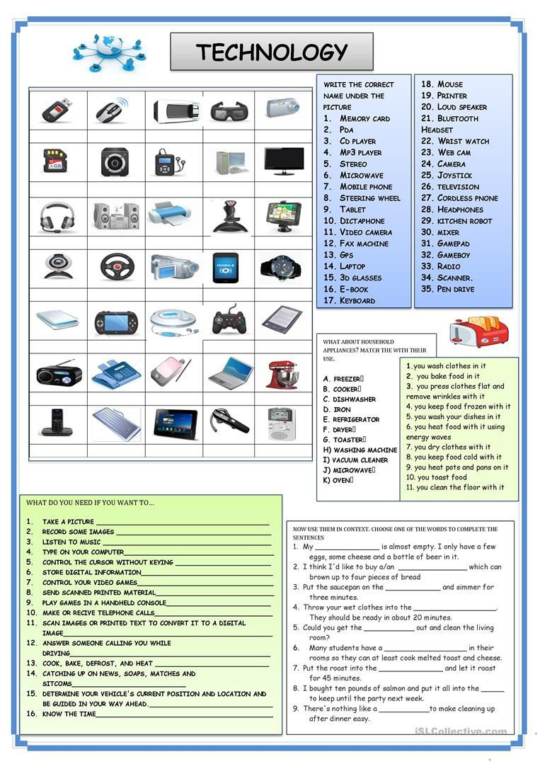 Computer Worksheets for Middle School Technology