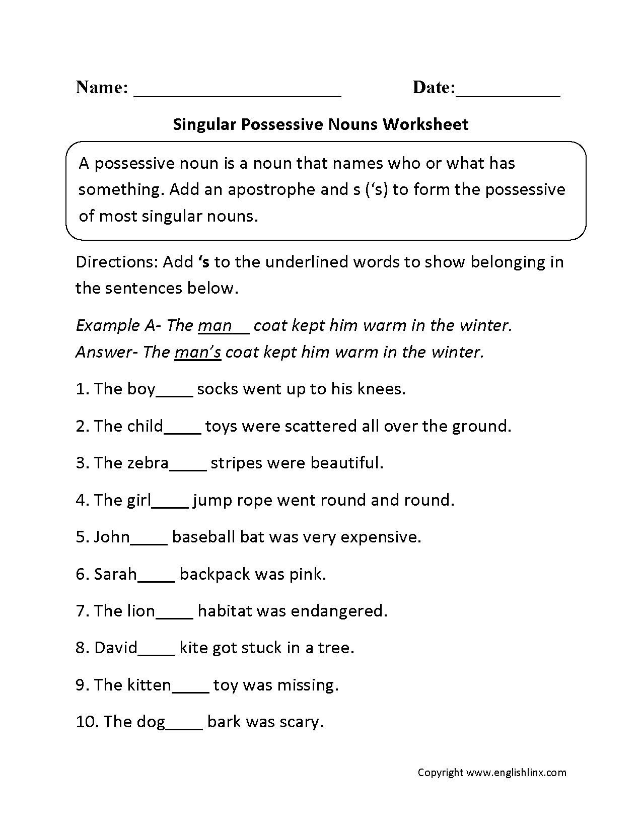 Conjunctions Worksheets 5th Grade 5th Grade English Worksheets Nouns