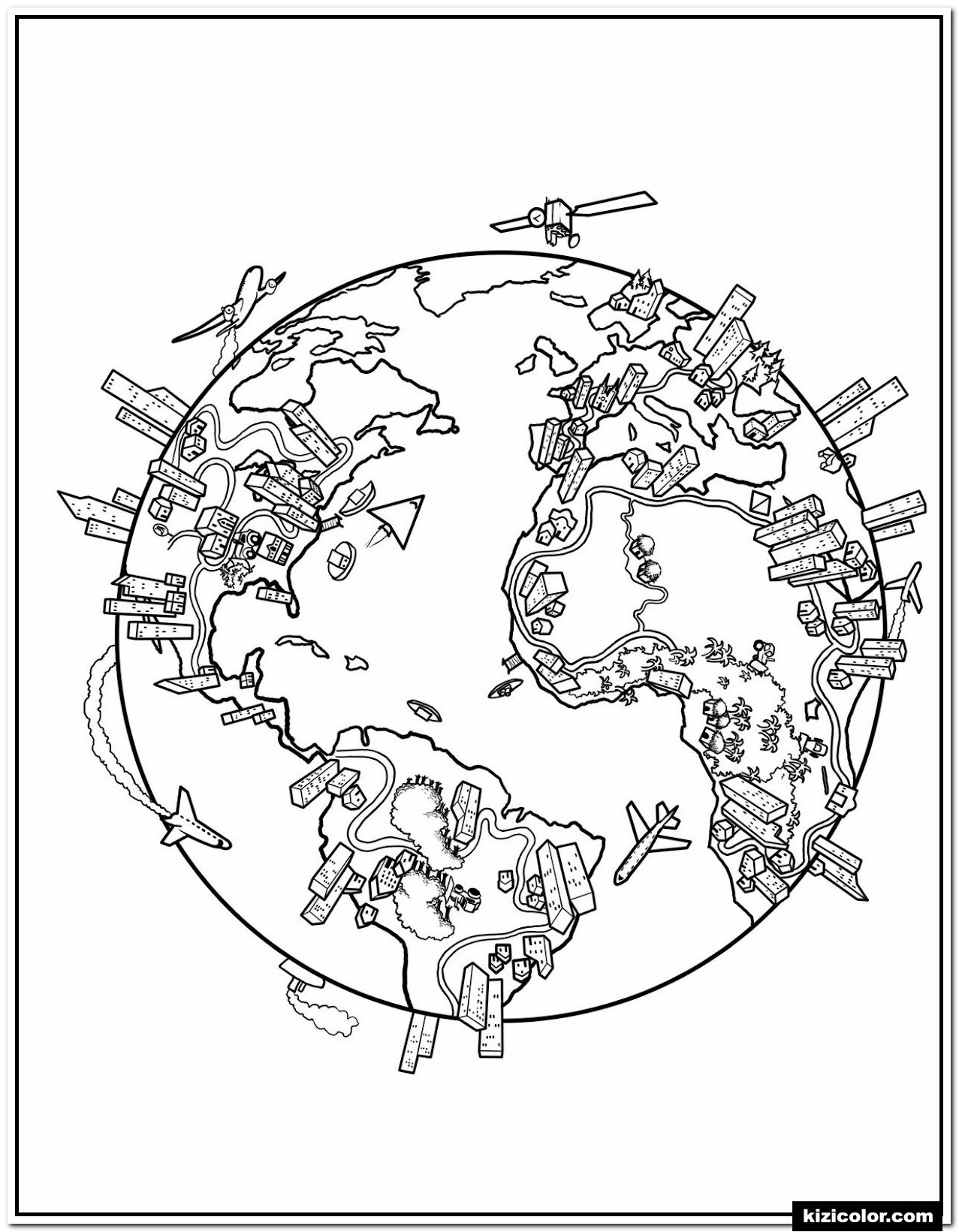 Continents and Oceans Printable Worksheets Coloring Worldp Printable Earth Pages Kizi Free for Amazing