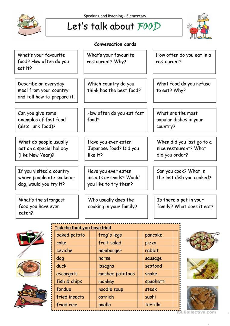 Cooking Worksheets for Middle School English Esl Food Worksheets Most Ed 1451 Results