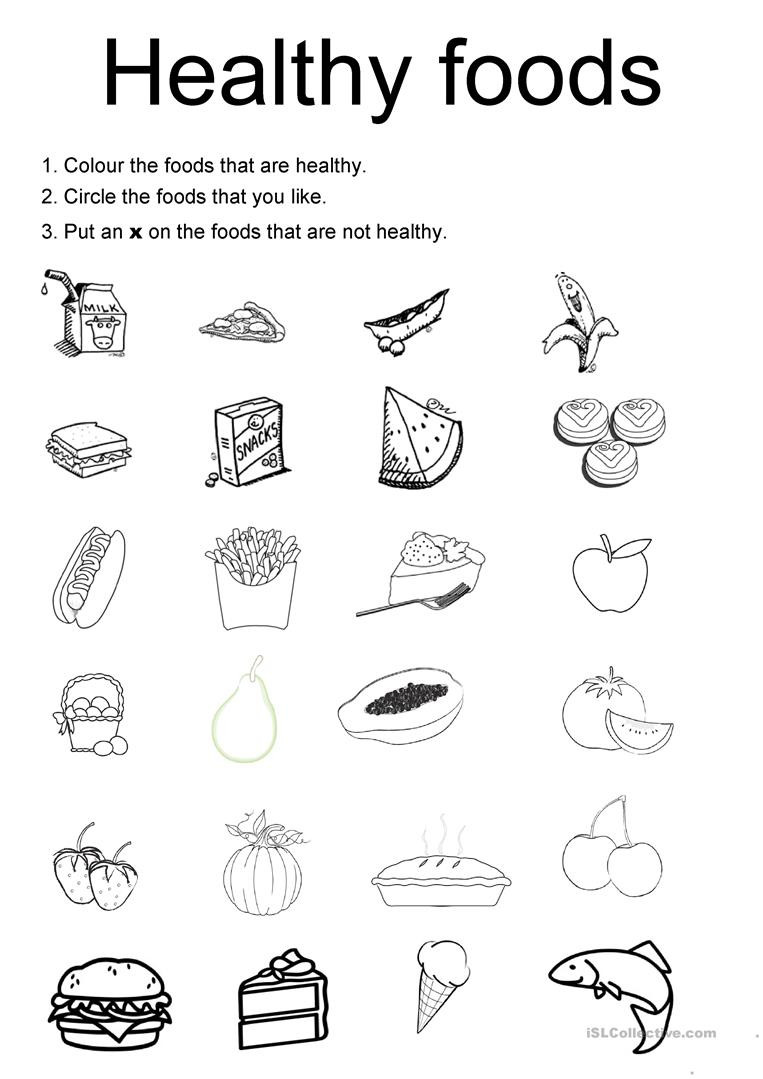 Cooking Worksheets for Middle School English Esl Healthy Food Worksheets Most Downloaded Results