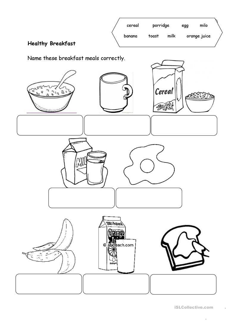 Cooking Worksheets for Middle School Healthy Food English Esl Worksheets for Distance Learning