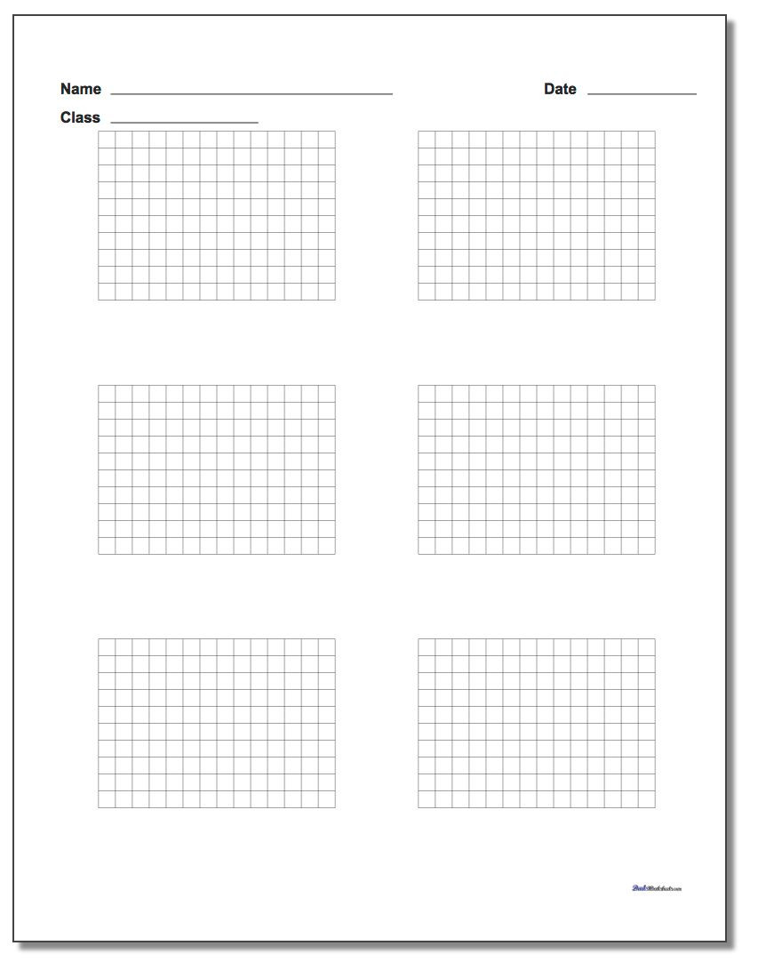 Coordinate Grid Worksheets 6th Grade Printable Graph Paper with Name Block