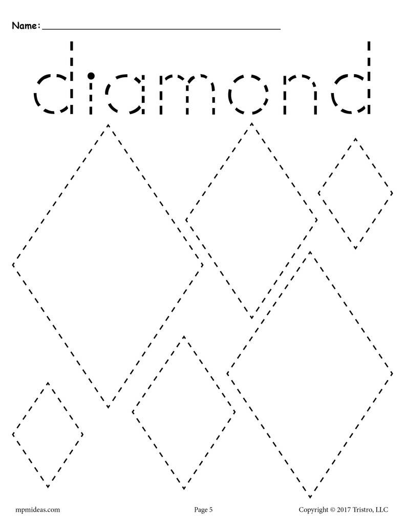 Various 20Shapes 20Tracing 20pages diamond 1024x1024