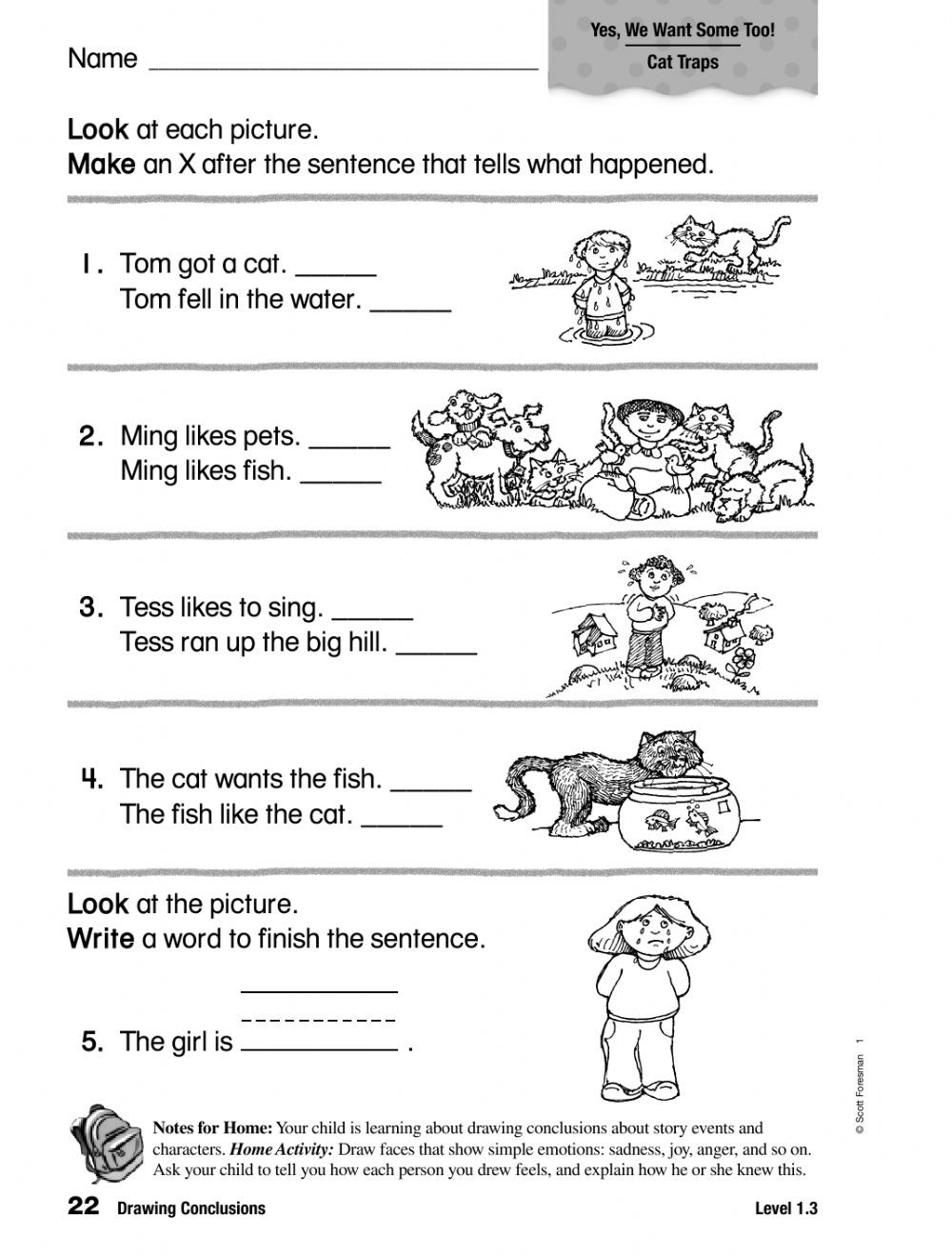 Drawing Conclusions Worksheets 4th Grade Grade E Math Activities Name Tracer Worksheets Printables