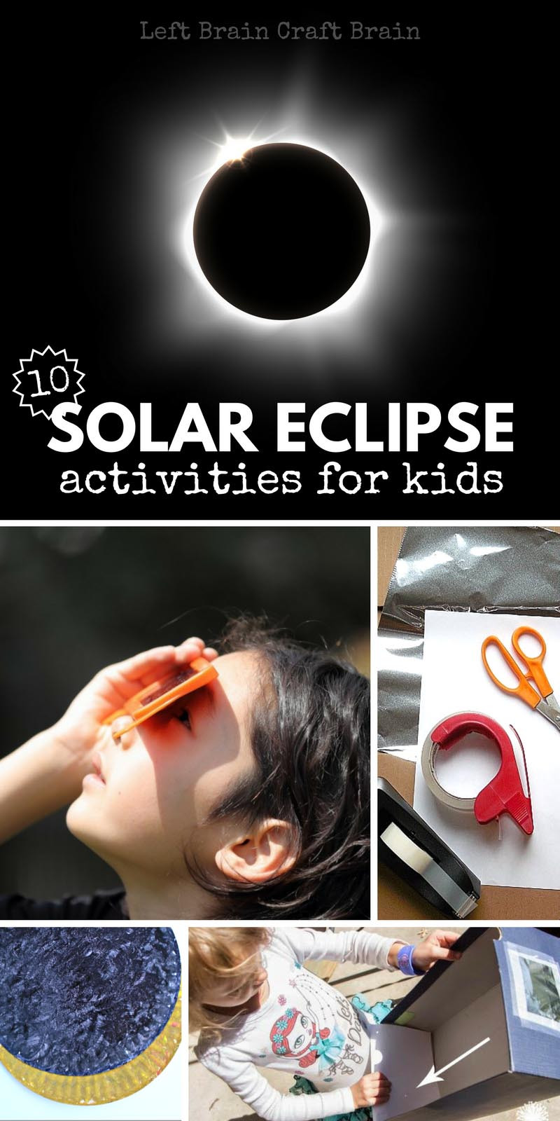 Eclipse Worksheets for Middle School 10 solar Eclipse Activities for Kids Left Brain Craft Brain