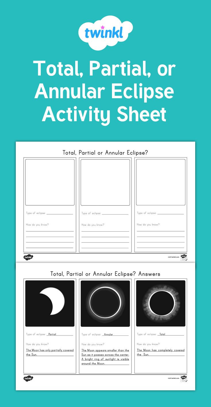 Eclipse Worksheets for Middle School A Useful Activity Sheet to Check Students Knowledge Of the
