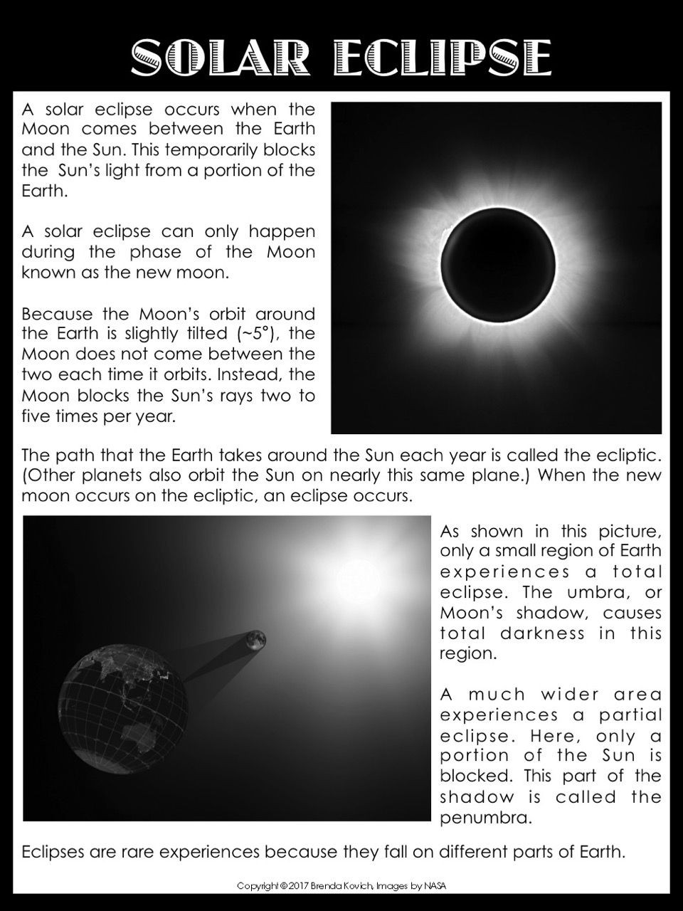 Eclipse Worksheets for Middle School solar Eclipse Resources for Kids and Teachers