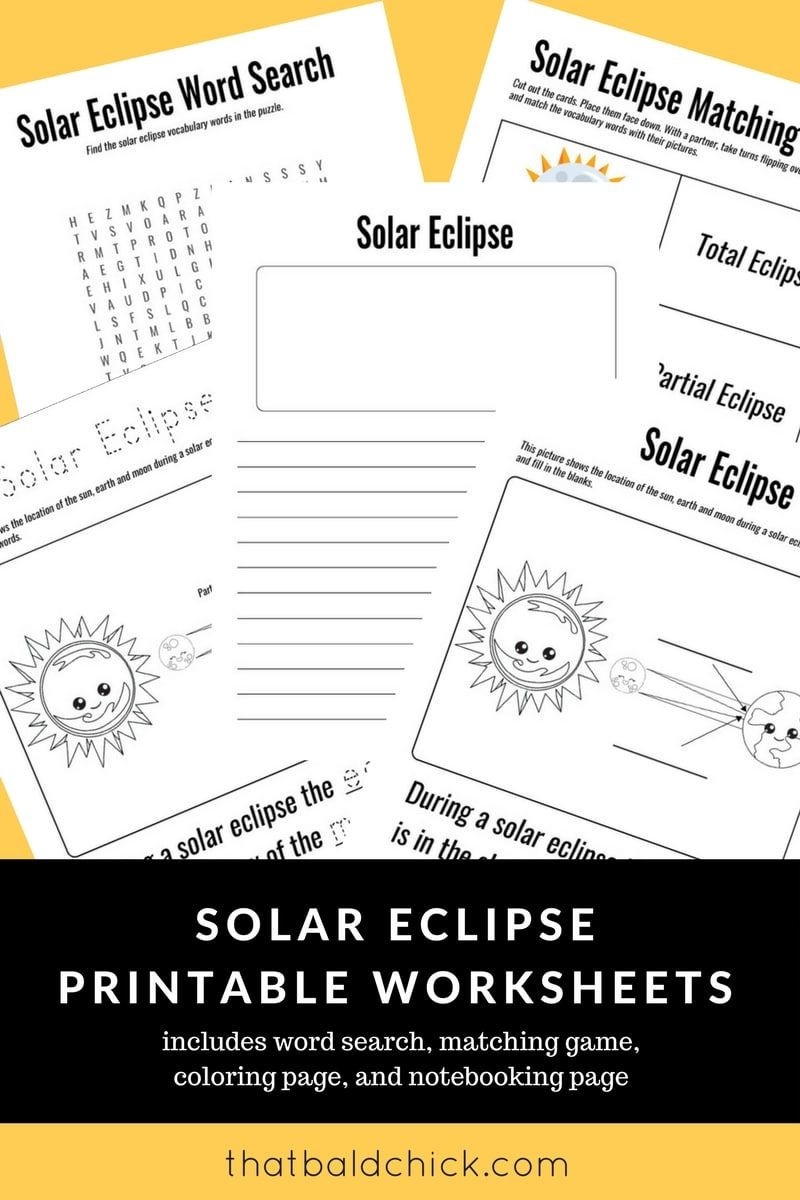 Eclipse Worksheets for Middle School Use these solar Eclipse Printable Worksheets to Make the