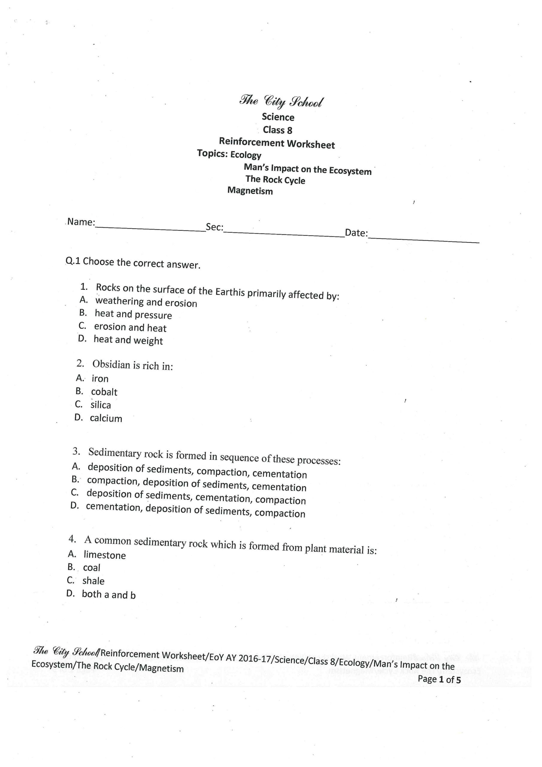 Ecology Worksheets Middle School Multiplying and Dividing Decimals Practice Place Value