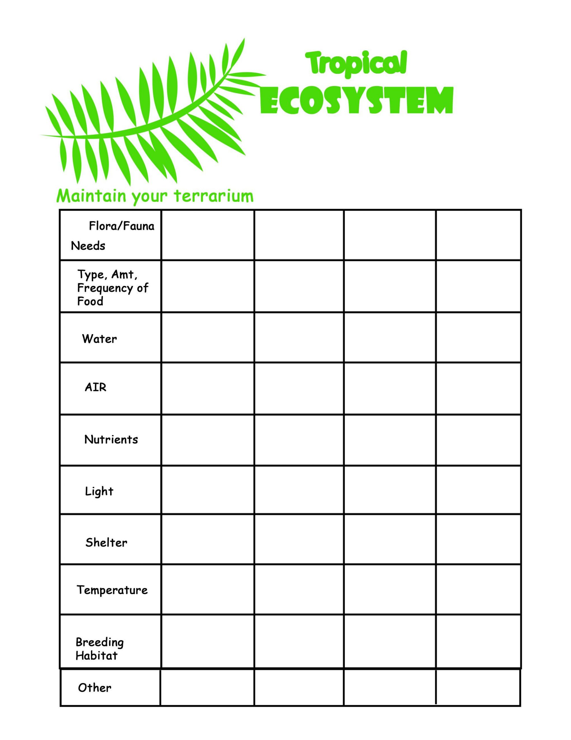 Ecosystem Worksheets 4th Grade Science Worksheets Google Search