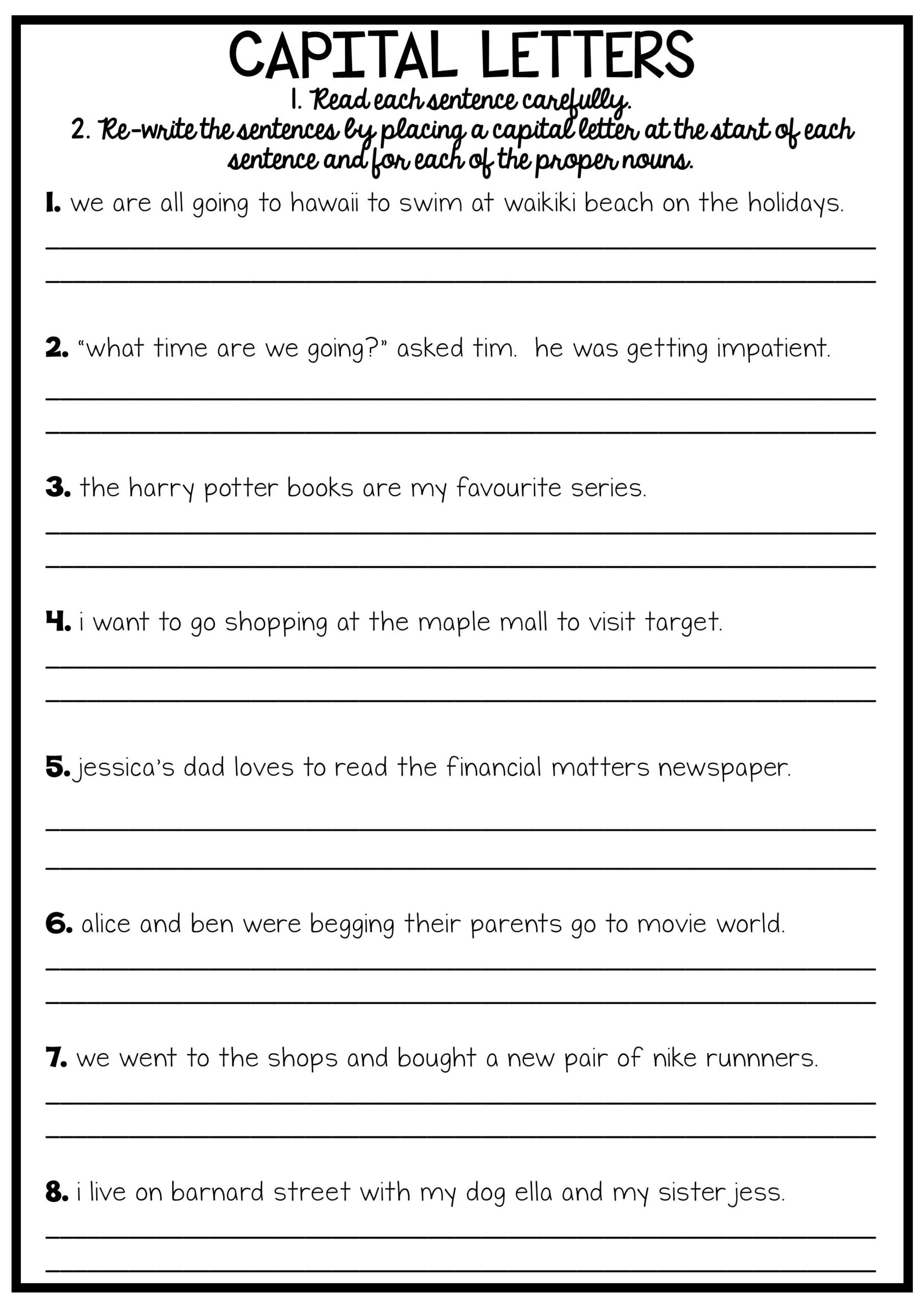 Editing Worksheet 2nd Grade Grade 2 Camouflage Animals Coloring Pages English Grammar