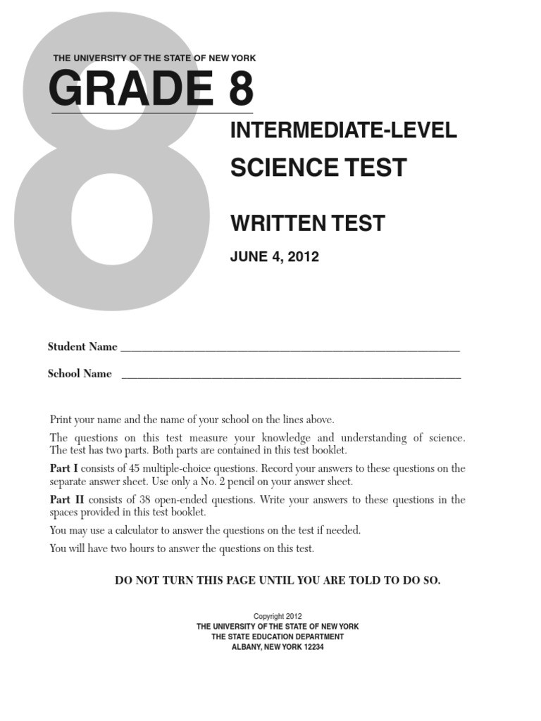 Eighth Grade Science Worksheets 8th Grade Science Test Chemical Elements