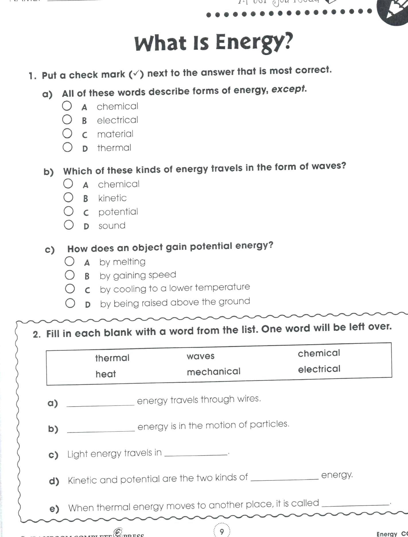 Energy 4th Grade Worksheets Pin On Quality Pins