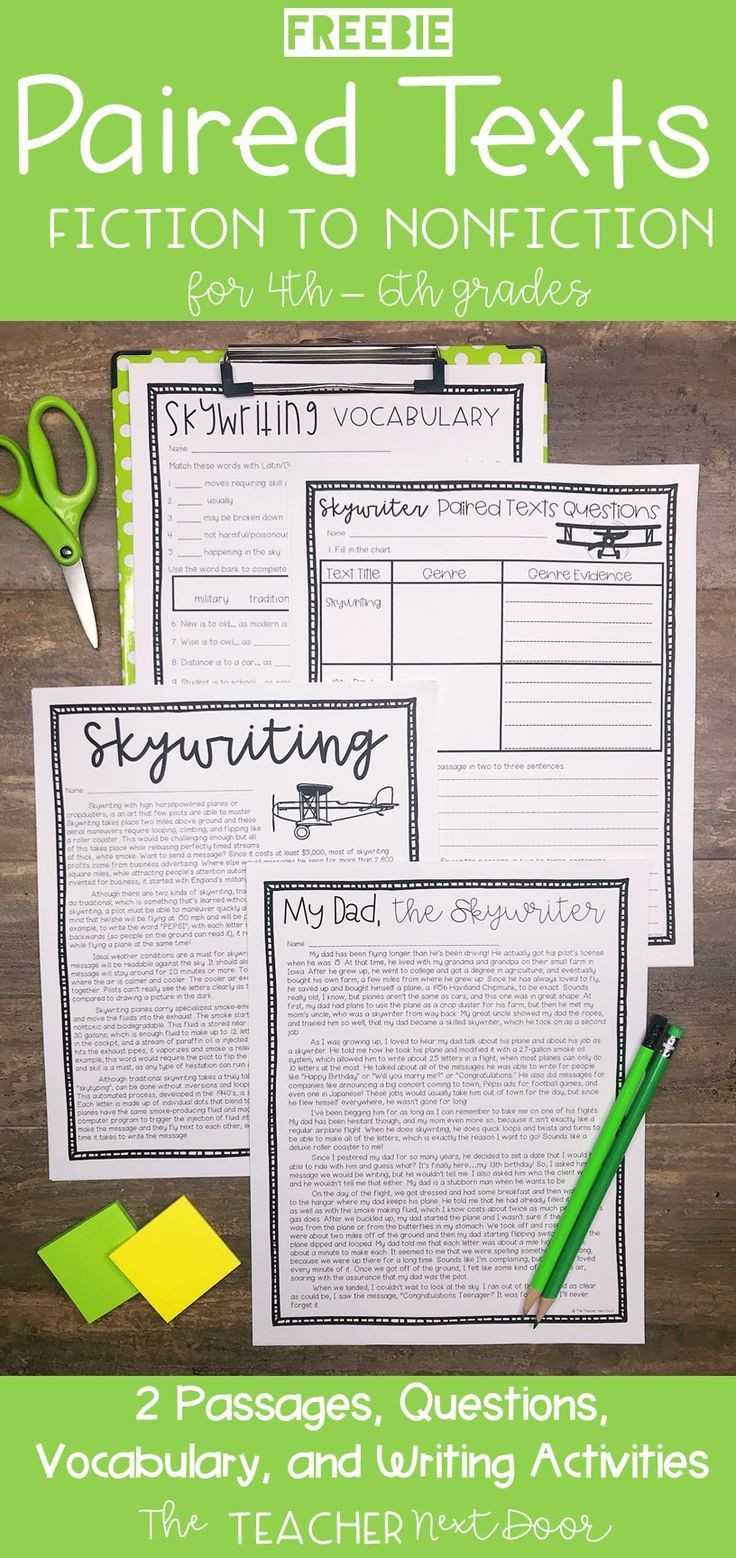 Everyday Math 4th Grade Worksheets Paired Texts Freebie for 4th 6th Grades Passages Grade