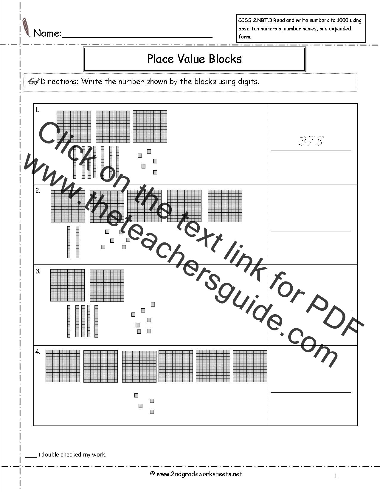 Expanded Notation Worksheets 3rd Grade Ccss 2 Nbt 3 Worksheets Place Value Worksheets Read and